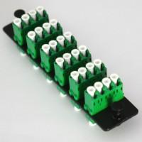 Loaded LGX Connector Panel LC/APC Singlemode Green Quad 6 Pack
