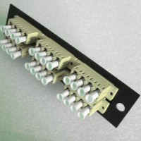 Loaded LGX Connector Panel LC Multimode Beige Quad 6 Pack