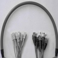 12 Fiber Armored Breakout FC SC 50 Multimode Patch Cable