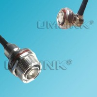 7/16 DIN Male Right Angle to 7/16 DIN Bulkhead Female RF Cable