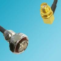 7/16 DIN Male to SMA Bulkhead Female Right Angle RF Cable