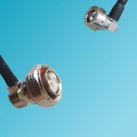 7/16 DIN Male Right Angle to QN Male Right Angle RF Cable