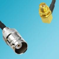 BNC Female to RP SMA Bulkhead Female Right Angle RF Cable
