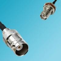 BNC Female to RP TNC Bulkhead Female RF Cable