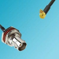 BNC Bulkhead Female to MC-Card Male Right Angle RF Cable
