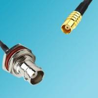 BNC Bulkhead Female to MCX Female RF Cable