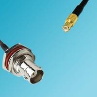 BNC Bulkhead Female to MCX Male RF Cable