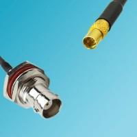BNC Bulkhead Female to MMCX Female RF Cable