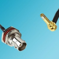 BNC Bulkhead Female to MS156 Male Right Angle RF Cable