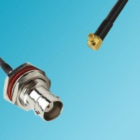 BNC Bulkhead Female to RP MMCX Male Right Angle RF Cable