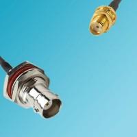 BNC Bulkhead Female to SMA Bulkhead Female RF Cable