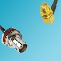 BNC Bulkhead Female to SMA Bulkhead Female Right Angle RF Cable