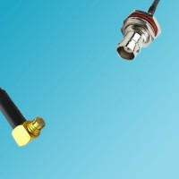 BNC Bulkhead Female to SMP Female Right Angle RF Cable