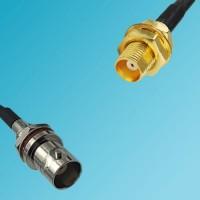BNC Front Mount Bulkhead Female to MCX Bulkhead Female RF Cable