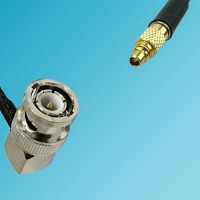 BNC Male Right Angle to RP MMCX Male RF Cable