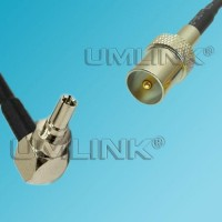 CRC9 Male Right Angle to DVB-T TV Male RF Coaxial Cable