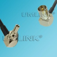 CRC9 Male Right Angle to DVB-T TV Male Right Angle RF Coaxial Cable