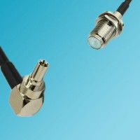 CRC9 Male Right Angle to F Bulkhead Female RF Cable
