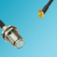 F Bulkhead Female to MC-Card Male Right Angle RF Cable