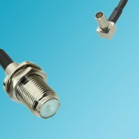 F Bulkhead Female to MS147 Male Right Angle RF Cable