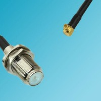 F Bulkhead Female to RP MMCX Male Right Angle RF Cable
