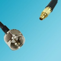 F Male to RP MMCX Male RF Cable