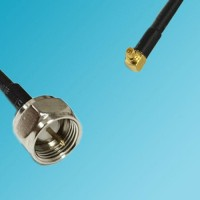 F Male to RP MMCX Male Right Angle RF Cable