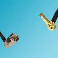 F Male Right Angle to MS156 Male Right Angle RF Cable
