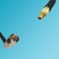 F Male Right Angle to RP MMCX Male RF Cable