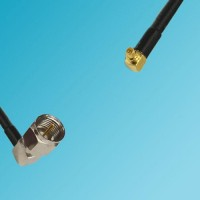 F Male Right Angle to RP MMCX Male Right Angle RF Cable