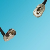F Male Right Angle to UHF Female RF Cable