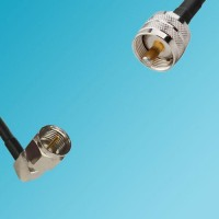 F Male Right Angle to UHF Male RF Cable