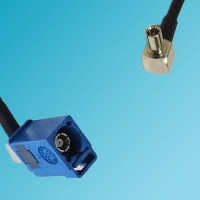 FAKRA SMB C Female Right Angle to TS9 Male Right Angle RF Cable