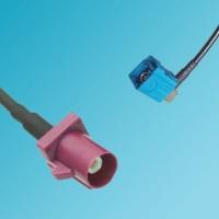 FAKRA SMB D Male to FAKRA SMB Z Female Right Angle RF Cable