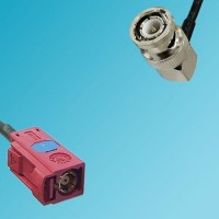 FAKRA SMB L Female to BNC Male Right Angle RF Cable