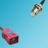 FAKRA SMB L Female to F Bulkhead Female RF Cable