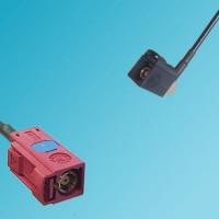FAKRA SMB L Female to FAKRA SMB A Female Right Angle RF Cable
