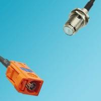 FAKRA SMB M Female to F Bulkhead Female RF Cable