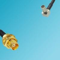 MCX Bulkhead Female to MS147 Male Right Angle RF Cable