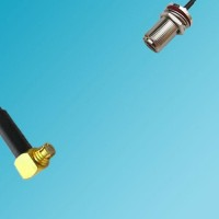 N Bulkhead Female to SMP Female Right Angle RF Cable