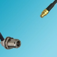 N Bulkhead Female Right Angle to SMP Female RF Cable
