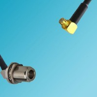 N Bulkhead Female Right Angle to SMP Female Right Angle RF Cable