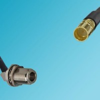 N Bulkhead Female Right Angle to SMP Male RF Cable