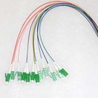 12 Strand LC/APC Color Coded Pigtails 9/125 OS2 Singlemode