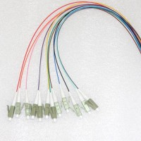 12 Strand LC/PC Color Coded Pigtails 50/125 OM2 Multimode