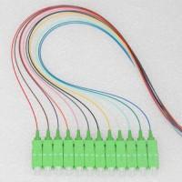 12 Strand SC/APC Color Coded Pigtails 9/125 OS2 Singlemode