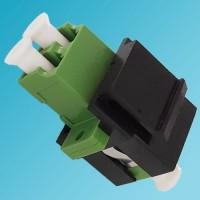Black Keystone Jack LC/APC Singlemode Duplex Green