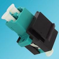 Black Keystone Jack LC OM3/OM4 Multimode Duplex Aqua