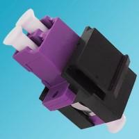 Black Keystone Jack LC OM4 Multimode Duplex Violet