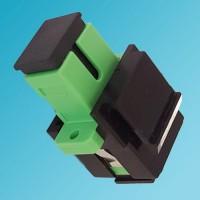 Black Keystone Jack SC/APC Singlemode Simplex Green